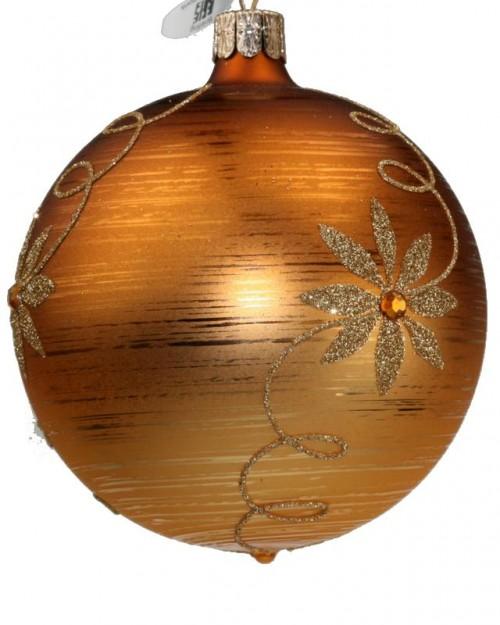 05-468 7cm Blumenranke mit Stein gold, orange