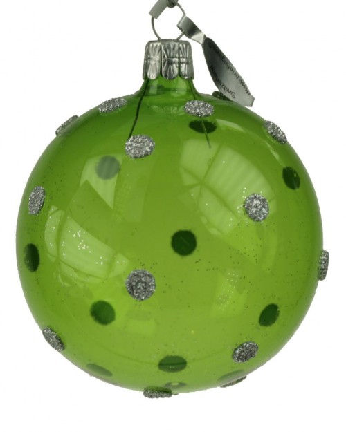 05-783 7cm Silberpunkte grün transp
