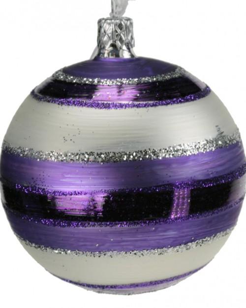04-187 8cm violett-weiss matt gestreift