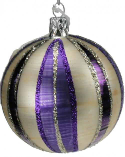 04-192 7cm violett-weiss matt Schnitze
