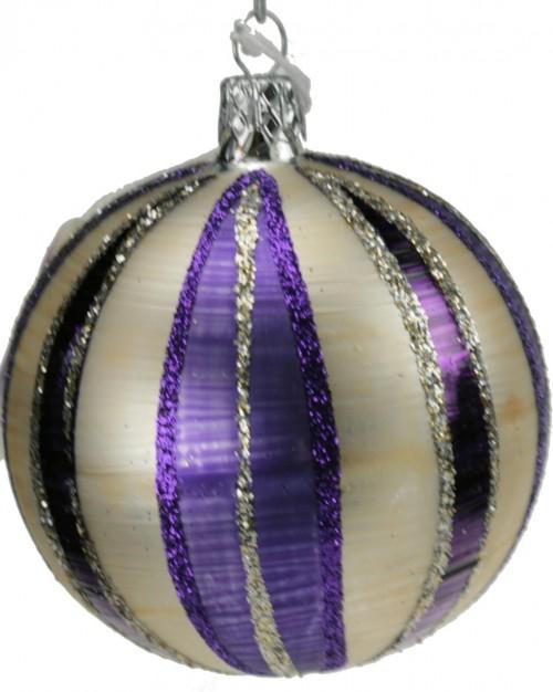 04-193 8cm violett-weiss matt Schnitze
