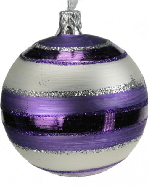 04-186 7cm violett-weiss matt gestreift