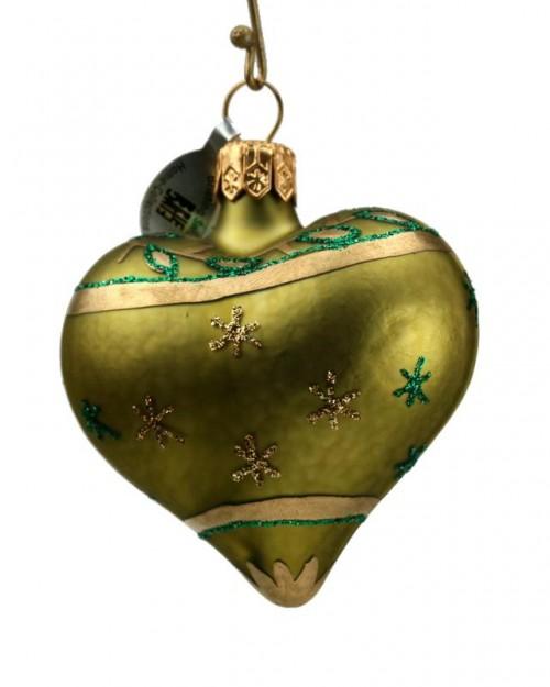 12-057 Cœur petit vert vrilles de feuilles