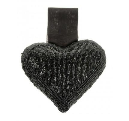 11-077-17 Coeur 17cm noir